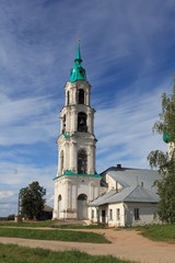 Russian church in the village of the Levashovo bell tower