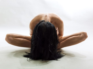 Female figure on a white background