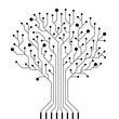 Vector circuit board tree - 80417818