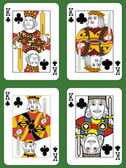 Four Kings of Clubs
