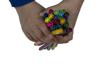 Color pen on hand
