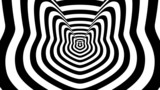 Concentric oncoming abstract symbol, tomcat - optical illusion poster