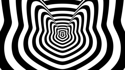 Concentric oncoming abstract symbol, tomcat - optical illusion