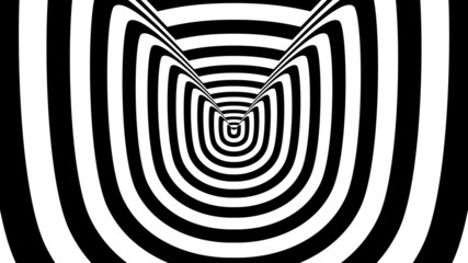 Concentric oncoming abstract symbol, kitten - optical illusion