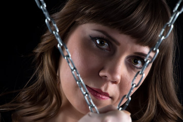 Photo of woman with chains