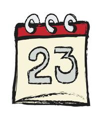 doodle tear off paper calendar