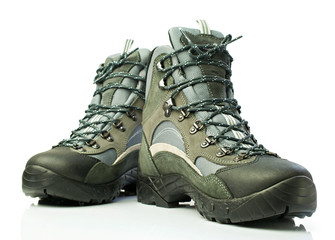 A pair of sports shoes trekking
