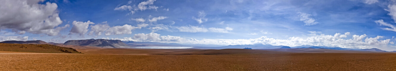 The Panorama of Altiplano desert