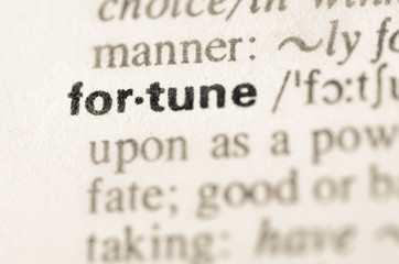Dictionary definition of word fortune