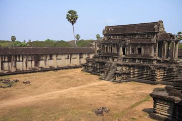 Ruins of ancient Khmer temple - Angkor Wat