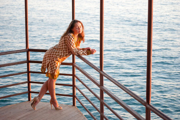 Young girl near the sea