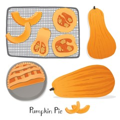 Roasted pumpkins, healthy clean eating.