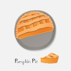 Pumpkin pie illustration.