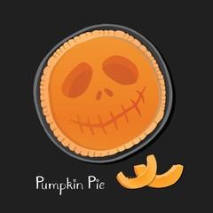 Halloween pie illustration.