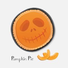 Pumpkin pie illustration.