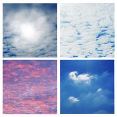 Sonne und Wolken Collage