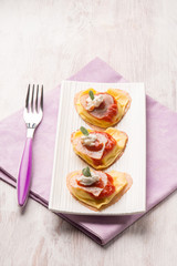 ravioli with ham ricotta and tomato sauce