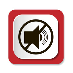 Векторный значок с символом запрещающий радиозвук