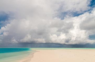White sand of Maldivian Island