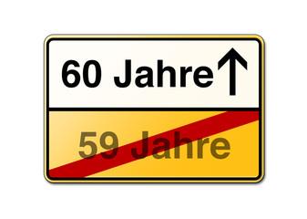 60 Jahre 60ster Geburtstag