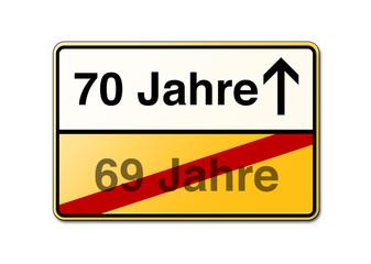 70 Jahre 70ster Geburtstag