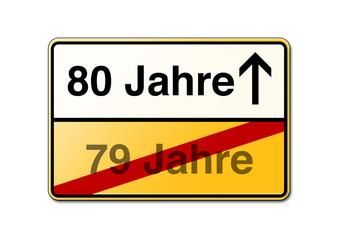 80 Jahre 80ster Geburtstag