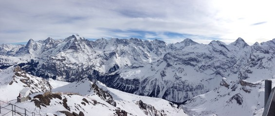 Bergpanorama Eiger, Mönch und Jungfrau