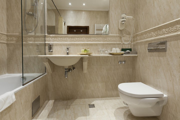 bathroom in luxury apartment