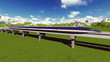 Maglev train. Raster. 8 - 80425674