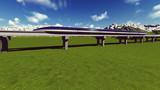Maglev train. Raster. 9
