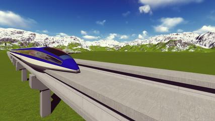 Maglev train. Raster. 7