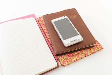 スマートフォンとノート