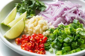 Thai spicy salad ingredient