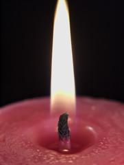 Llama de vela rosa