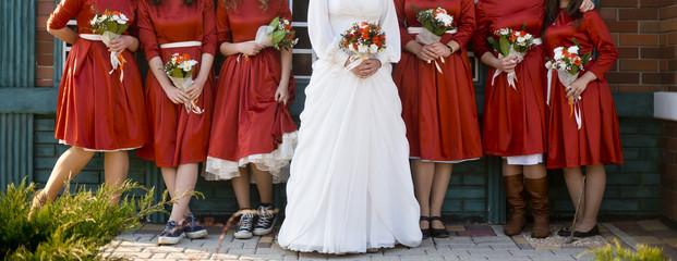 bride and wedding bouquets