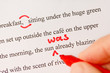 Red Proofreading Marks and Pen Closeup - 80427816