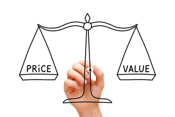 Price Value Balance Scale Concept