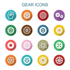 gear long shadow icons
