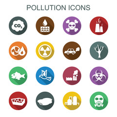 pollution long shadow icons