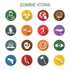 zombie long shadow icons