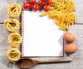 Italian cuisine with pasta