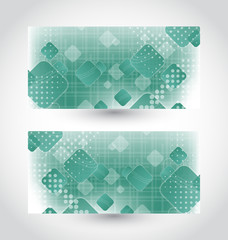 Set cards with abstract squares