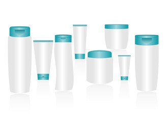 Cosmetic container templates for designers. Editable