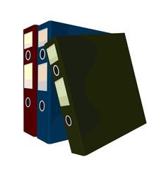 Realistic illustration of close folders