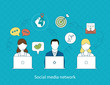 Concept of social media network