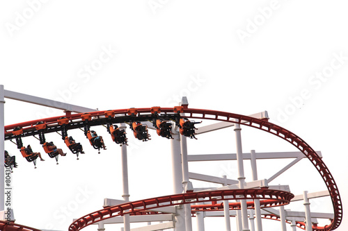 Fotobehang Jacht Roller Coasters loops