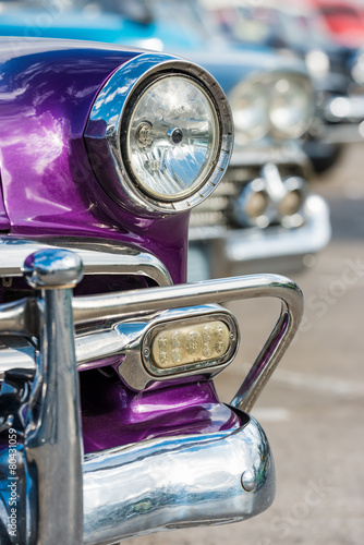 Beautiful old cars in Havana