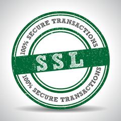 SSL 100% Safety Guarantee seal, security icon - vector eps10