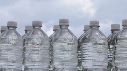 Water Bottles Clouds Time Lapse