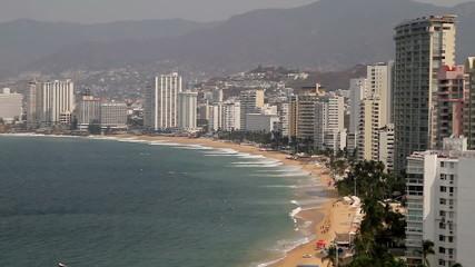 Acapulco Bay Buildings Panoramic